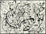 No. 14 (Gray) Mounted Print by Jackson Pollock