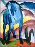 Cavalo azul I Impressão montada por Franz Marc
