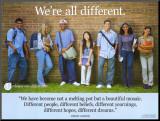 Wir sind alle anders|We're All Different Druck aufgezogen auf Holzplatte