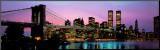 Pont de Brooklyn et horizon de New York Affiche montée sur bois par Richard Sisk