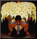 El Vendedor de Alcatraces Impressão montada por Diego Rivera