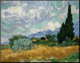Wheatfield with Cypresses, c.1889 Mounted Print by Vincent van Gogh