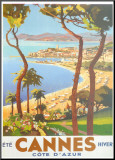 Ete Cannes Hiver Mounted Print by  Peri