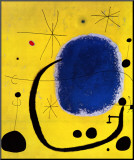 L'Oro dell' Azzurro Mounted Print by Joan Miró