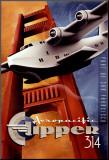 Klipper 314 Druck aufgezogen auf Holzplatte von Michael L. Kungl