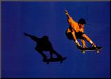 No Limits Skateboarder Mounted Print