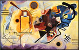 Yellow, Red and Blue, c.1925 Mounted Print by Wassily Kandinsky