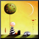 Dreaming Lámina montada en tabla por Jo Parry