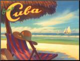 Escape to Cuba Impressão montada por Kerne Erickson