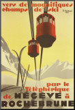 Megeve Mounted Print by Pierre Michaud