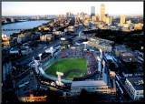 Boston - All Star Game på Fenway Print på trä av Mike Smith