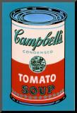 Campbell's, lata de sopa, 1965, rosa e vermelha Impressão montada por Andy Warhol