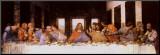La Cène, vers 1498 Affiche montée sur bois par  Leonardo da Vinci