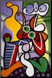 Stilleben mit Birnen und Trauben Druck aufgezogen auf Holzplatte von Pablo Picasso