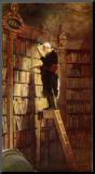 Bookworm Impressão montada por Carl Spitzweg