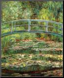 Le Pont Japonais a Giverny Impressão montada por Claude Monet