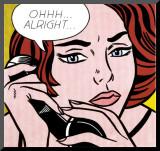 Ohhh...Alright..., 1964 Affiche montée sur bois par Roy Lichtenstein