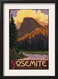 Half Dome, Yosemite National Park, California Print by  Lantern Press