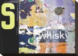 Whisky Layers Stretched Canvas Print by Jenny Kraft