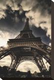 The Eiffel Tower Bedruckte aufgespannte Leinwand von Mark Verlijsdonk
