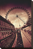 London Eye Stretched Canvas Print by Marcin Stawiarz