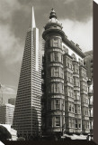 San Francisco Iconic Buildings Opspændt lærredstryk af Christian Peacock
