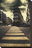 The Two Streets Bedruckte aufgespannte Leinwand von Mark Verlijsdonk