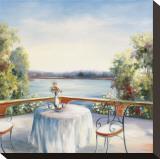 Summer Patio Pingotettu canvasvedos tekijänä David Weiss