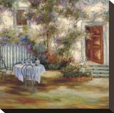 Lavender Garden Pingotettu canvasvedos tekijänä David Weiss