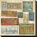 Believe and Hope II Impressão em tela esticada por Daphne Brissonnet