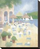Lunch at the Yacht Club Pingotettu canvasvedos tekijänä Albert Swayhoover