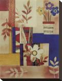 Floral Maize Sträckt kanvastryck av Dominique Gaudin