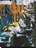 Blue Orange Layers III Stretched Canvas Print by Jenny Kraft