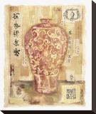 Cinnabar Vase Sträckt kanvastryck av Jane Claire