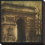 Arc de Triomphe Stretched Canvas Print by Christopher Bliss