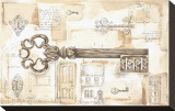 Key to the Country Sträckt kanvastryck av Jane Claire