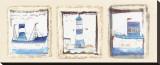 Lighthouse on the Rocks Sträckt kanvastryck av Jane Claire