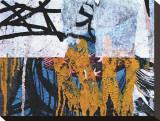 Blue Orange Layers I Stretched Canvas Print by Jenny Kraft