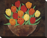Tasteful Tulips Stretched Canvas Print by R. Rafferty