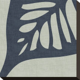 Shadow Leaf III Stretched Canvas Print by Mali Nave