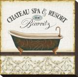 Spa and Resort I Sträckt kanvastryck av Lisa Audit