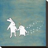 Follow Your Heart, Go Together Opspændt lærredstryk af Kristiana Pärn