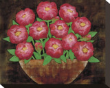 Playful Peonies Stretched Canvas Print by Rachel Rafferty