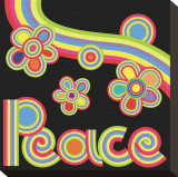 Peace Garden Stretched Canvas Print by Mali Nave