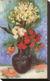 Vase with Carnations and Other Flowers, c.1886 Stretched Canvas Print by Vincent van Gogh