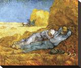 Descanso no meio do dia, após colheita, cerca de 1890 Impressão em tela esticada por Vincent van Gogh