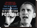 Barack Obama: My Story Stretched Canvas Print