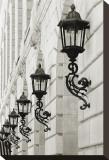 Lamps on Side of Building Opspændt lærredstryk af Christian Peacock