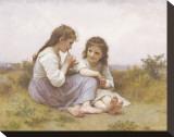 Childhood Idyll Toile tendue sur châssis par William Adolphe Bouguereau