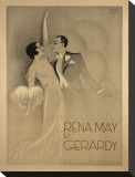 Rena May Et Gerardy Sträckt kanvastryck av  Vintage Posters